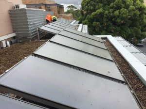commerical solar hot water st george