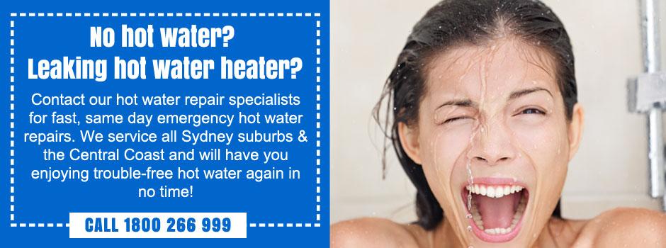 emergency hot water repairs st george